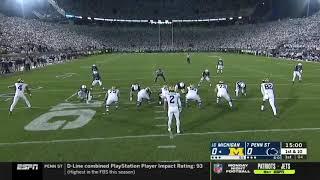 Penn State vs Michigan Timeout First Play - Whiteout