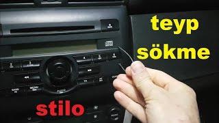 Fiat Stilo Teyp Sökme - Fiat Stilo Radio Remove