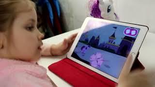 Любимая игра на планшете  my little pony эмоции ребенка