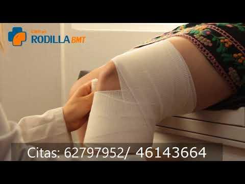 Sangre en la punción de la articulación de la rodilla