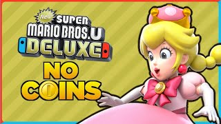 Is it possible to beat New Super Mario Bros. U Deluxe without touching a single coin?