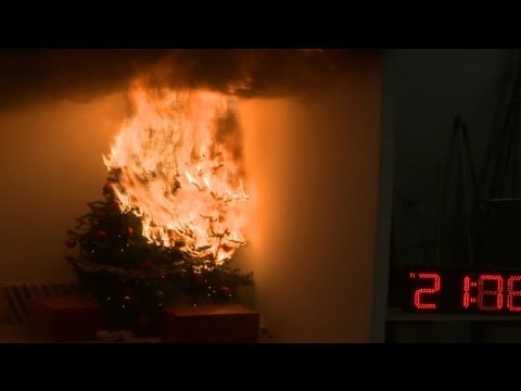 Here's Your Government-Sponsored Christmas Tree Fire Disaster Video