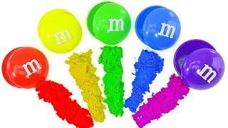 Сюрпризы в конфетах ммдемс. РОБОКАР ПОЛИ, ПЧЕЛА МАЯ.  Учим цвета. Развивающий мультик для детей.