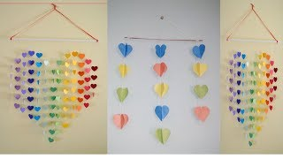 Wall Decoration With Colorful Paper||Colourful paper Wall Hanging|| Paper Life Hacking - Video Youtube