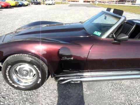 1970 Dark Claret Corvette Convertible Stingray Video