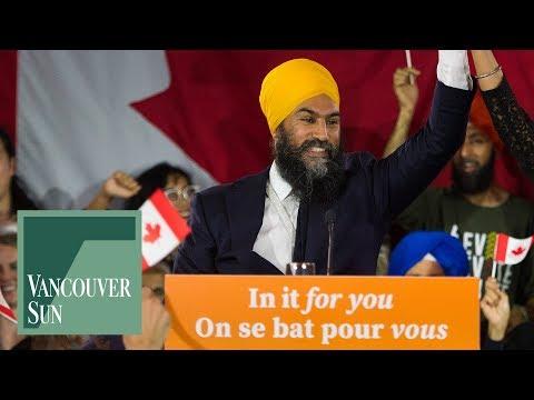 Jagmeet Singh post-election speech highlights   Vancouver Sun