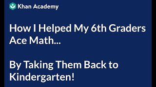 How I Helped My 6th Graders Ace Math... By Taking Them Back to Kindergarten! | Mastery Learning