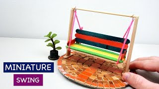 Miniature Swing For Fairy Garden #2| Simple & Easy Popsicle Stick Crafts