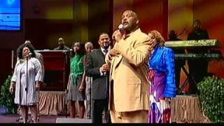 "Byron Cage Karen Clark-Sheard and Pastor Marvin L. Winans singing ""Lord You Are My Everything"""