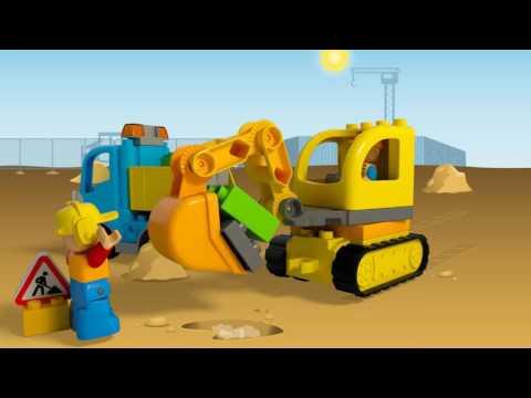 Vidéo LEGO Duplo 10812 : Le camion et la pelleteuse