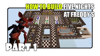 How To Build Five Nights at Freddy's Map in Minecraft - Part 1 (Fnaf 1 Map)