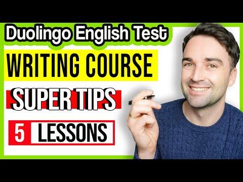 Duolingo English Test: Writing Course - Study and practice - YouTube