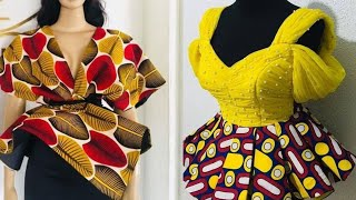 Best Trend Fascinating African Fashion Ankara Peplum Top Styles | 2020 Ankara Styles For Beautiful