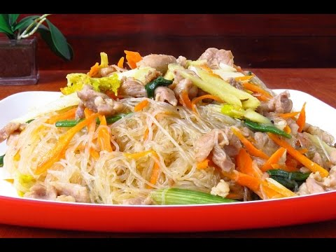 la receta de fideo chino transparente