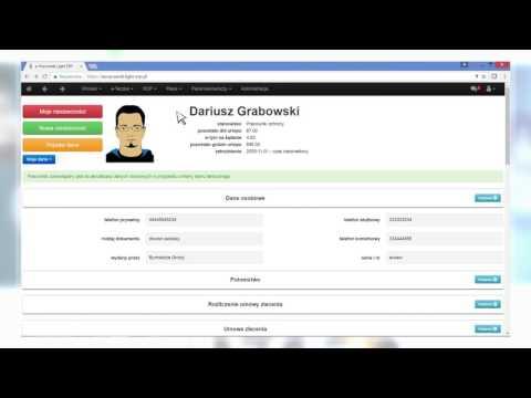 Aplikacja e-Pracownik: Rejestracja czasu pracy<
