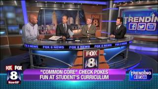 Viral Common Core Check Dad on Fox 8 News at 5