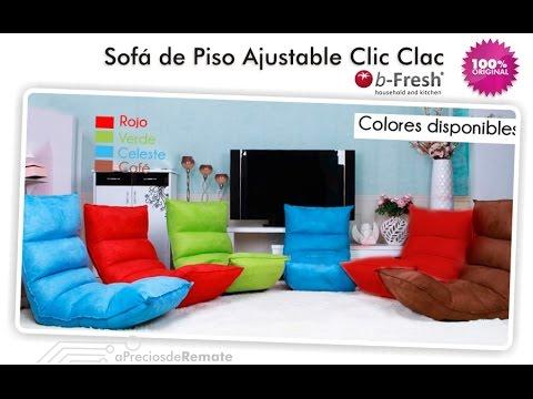 Sofá de suelo con sistema Clic-Clac Japonés ideal para ver TV y jugar videojuegos - aPreciosdeRemate