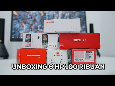 Unboxing Feature Phone Evercoss, Advan, Polytron, Mito, iCherry, & Strawberry