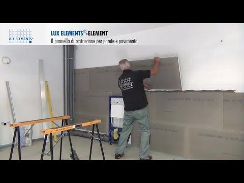 Montaggio LUX ELEMENTS: pannello di costruzione ELEMENT come rivestimento per parete su muratura
