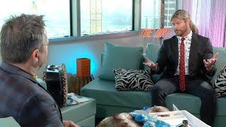 "Dolph Ziggler talks Mötley Crüe with the cast of ""The Dirt"""