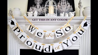 ‼️ Graduation Party Decoration Ideas DIY On a Budget 2018 2019 | Dollar Store Homemade