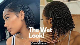 The Wet Look! | Juicy Curls 3B/3C Fine Hair | LovelyBryana