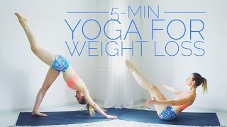 Weight Loss Yoga / 5-Minute routine for Weight Loss by Rinka Essel Yoga & Beauty