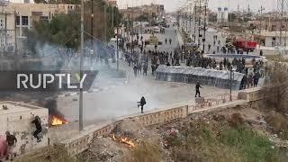 Irak: starcie policji z demonstrantami domagającymi się rezygnacji gubernatora w Nasiyirah