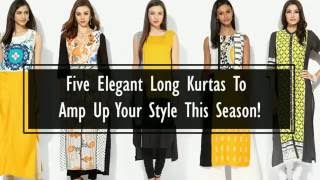 Elegant Long Kurtas To Amp Up Your Style This Season!