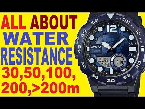 Casio water resistant watch | Casio water resistant WR 30m, 50m, 100m, 200m