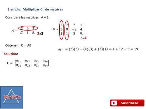 Multiplicación de matrices 2x3 y 3x4