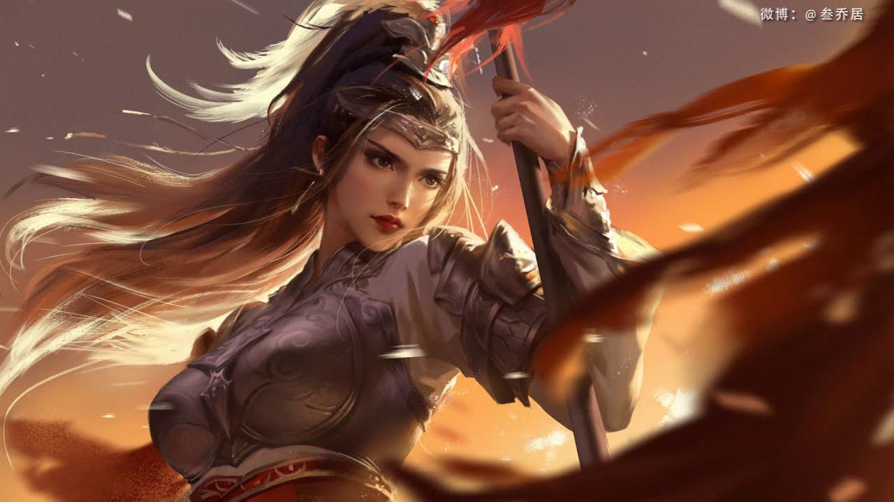 digital painting sword girl by digital painting cg