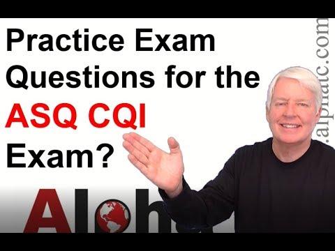 ASQ CQI Practice Exam - YouTube