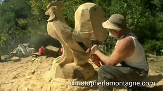 Chainsaw Carving  A Rooster
