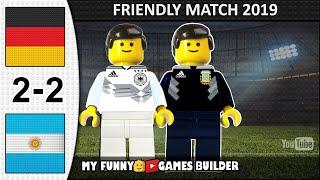 Germany vs Argentina 2-2 • International Friendly 10/10/2019 • All Goals Highlights LEGO Football