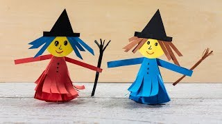 How To Make A Paper Witch | Easy Halloween Crafts For Kids | Activities For Kids