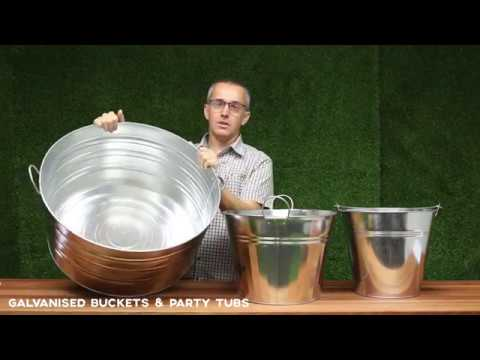 Galvanised Buckets & Party Tubs