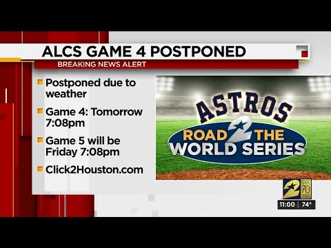Postponed! ALCS Game 4 between Astros, Yankees delayed due to weather