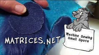 Machine Sewing Small Spots In Faux Fur