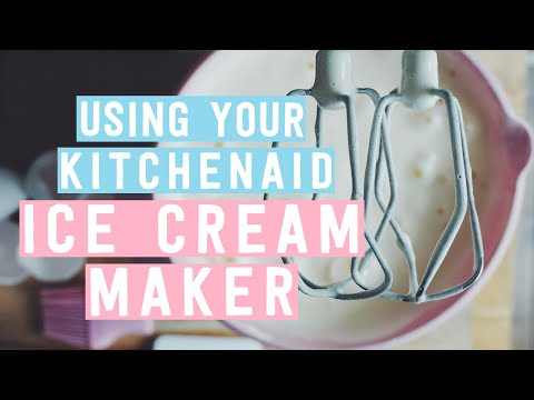 Video Using your KitchenAid Ice Cream Maker