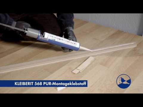 KLEIBERIT 568 PUR-Montageklebstoff - Fußleiste kleben
