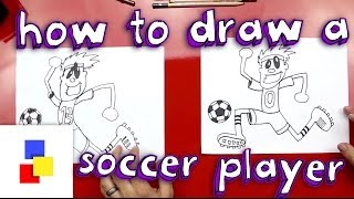 How To Draw A Soccer Player - dooclip.me