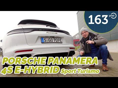 Porsche Panamera 4S e-hybrid Sport Turismo - Klappenauspuff und E-Kennzeichen ??? Test von 163 Grad