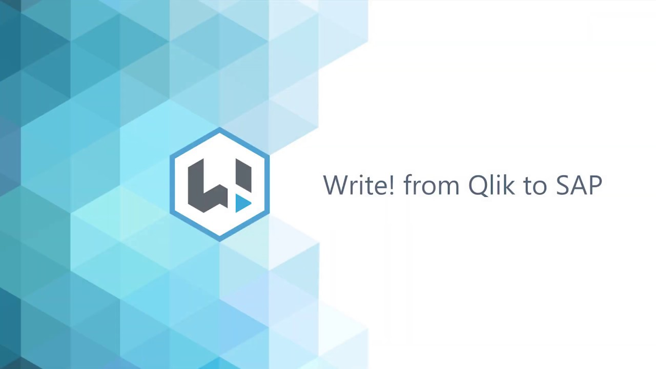 Write! from Qlik to SAP