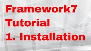 Framework7 Phonegap Tutorial   2   Installation and setup of framework7 application