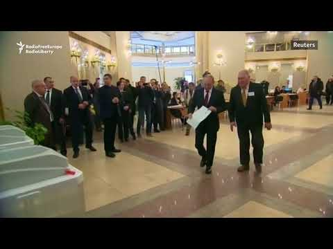 Putin Votes In Russia's Presidential Election