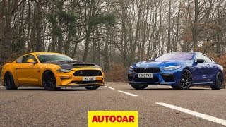 BMW M8 Competition vs 825bhp Ford Mustang review   Europe v USA showdown   Autocar