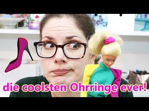 Ohrringe aus Barbie-Schuhen - verrückt!