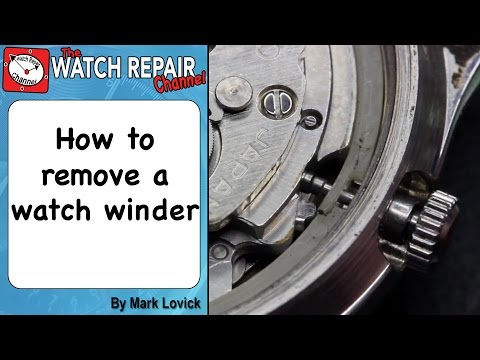 How to Remove A Watch Winder or crown and stem. Watch repair tutorials.