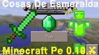 Armaduras Y Espadas De Esmeralda Minecraft Pe 0.10.X